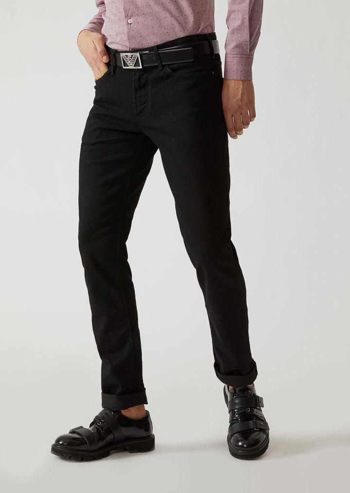 f991efddf8 Slim fit j06 jeans in stretch cotton eco-denim | Man | Emporio Armani