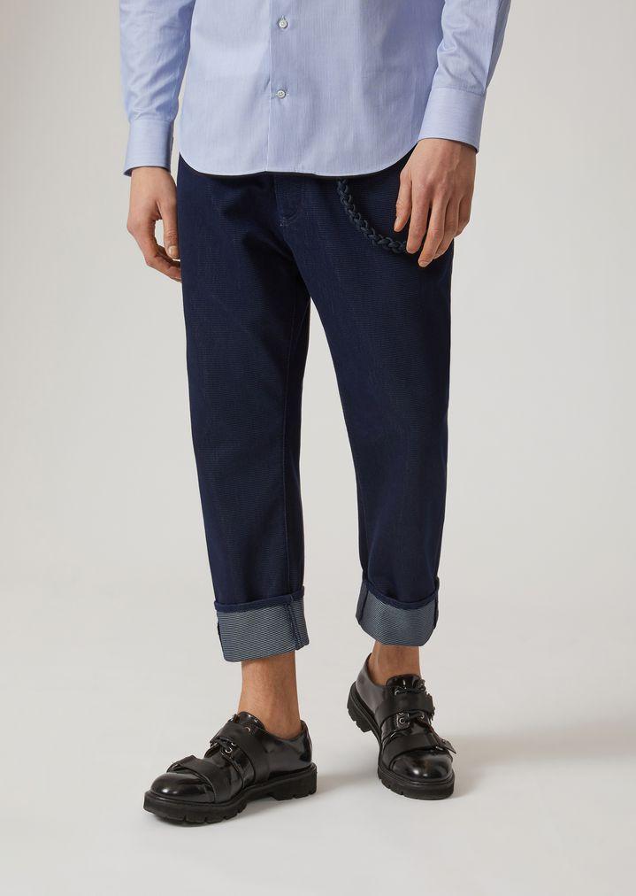 7bc429e743 j09 loose fit jeans in cotton denim   Man   Emporio Armani