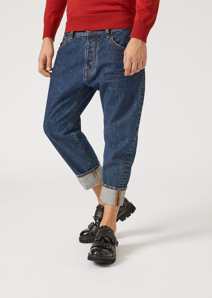 ed442a36f7 j04 loose-fit cotton denim jeans   Man   Emporio Armani
