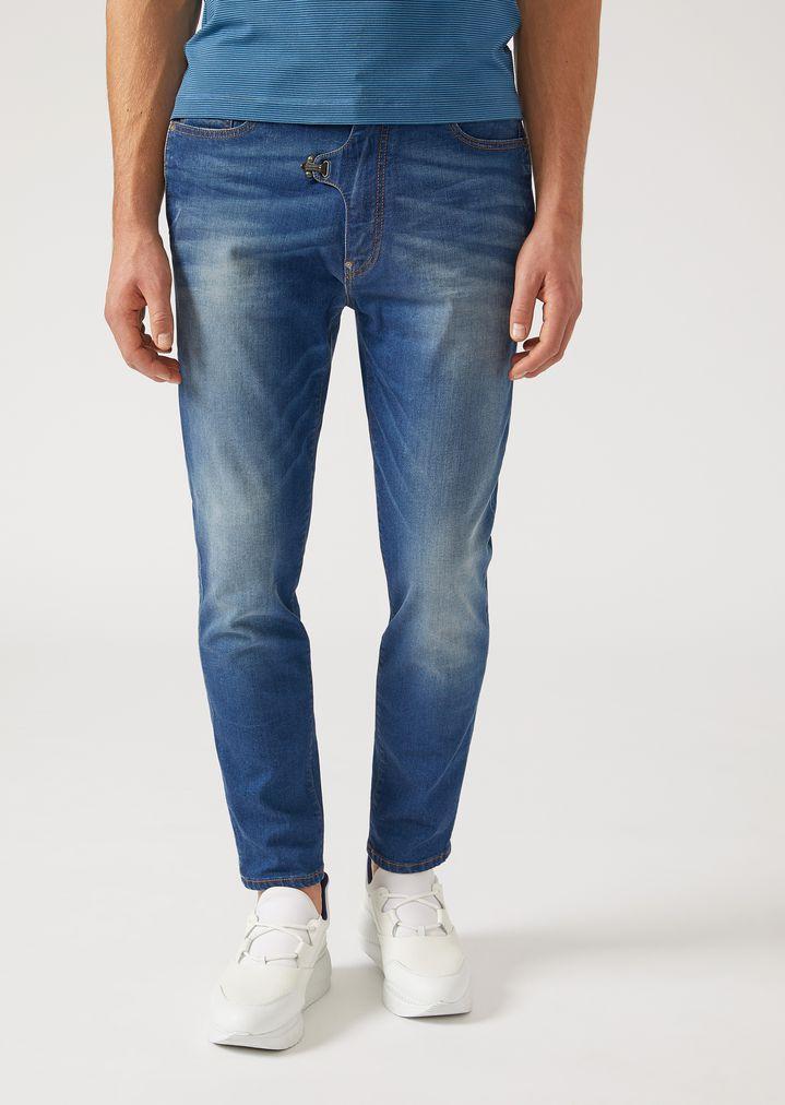 0f5aeb21d1d4 J01 regular-fit stretch cotton denim jeans