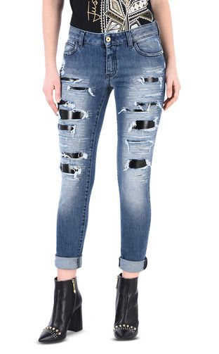 JUST CAVALLI Jeans Woman Skinny 5-pocket ripped jeans f