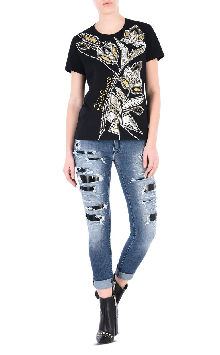 JUST CAVALLI Skinny 5-pocket ripped jeans Jeans [*** pickupInStoreShipping_info ***] r