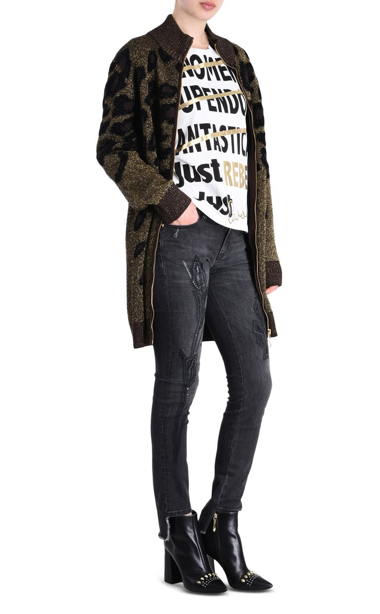 JUST CAVALLI 5-pocket jeans with irregular hem Jeans [*** pickupInStoreShipping_info ***] r