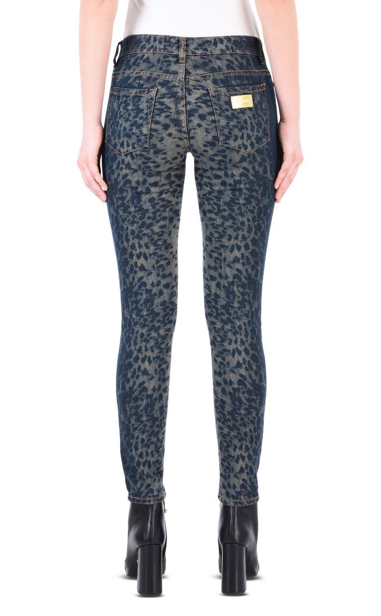 JUST CAVALLI Slim leopard-effect 5-pocket jeans Jeans Woman d