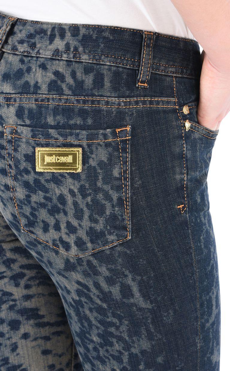 JUST CAVALLI Slim leopard-effect 5-pocket jeans Jeans Woman e
