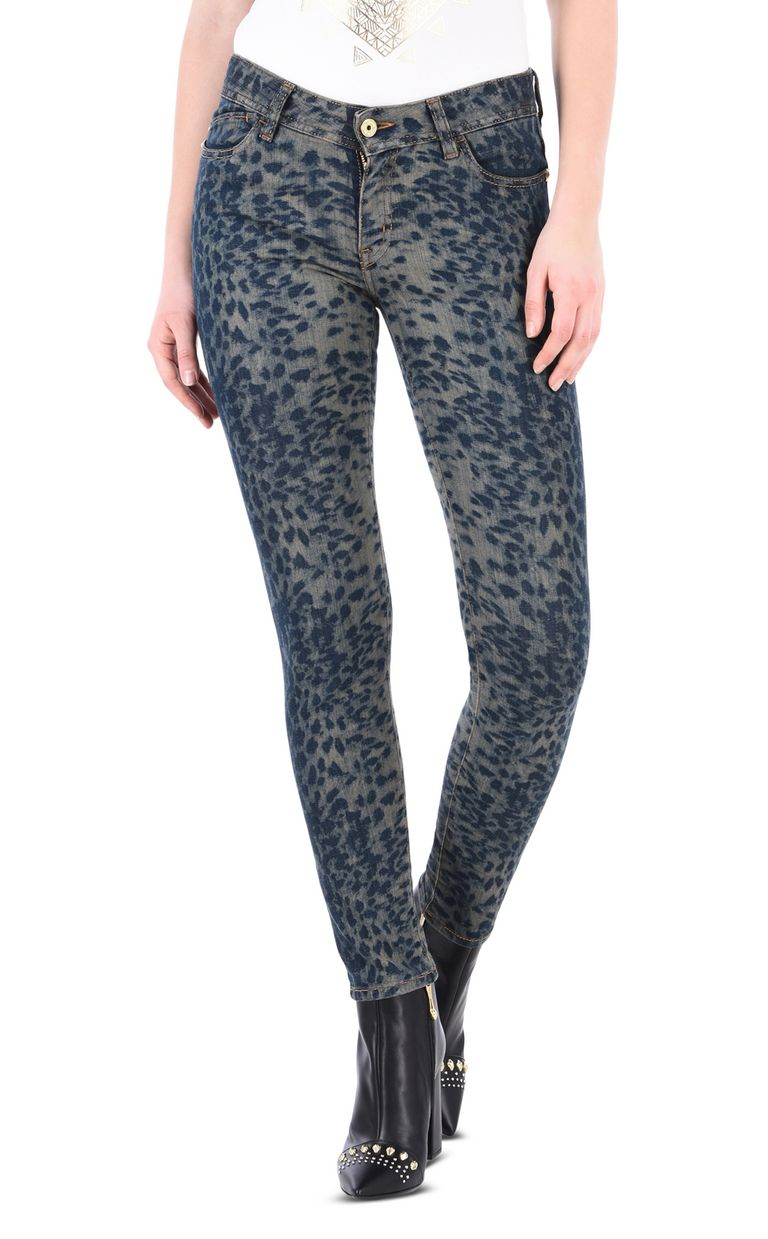 JUST CAVALLI Slim leopard-effect 5-pocket jeans Jeans Woman f