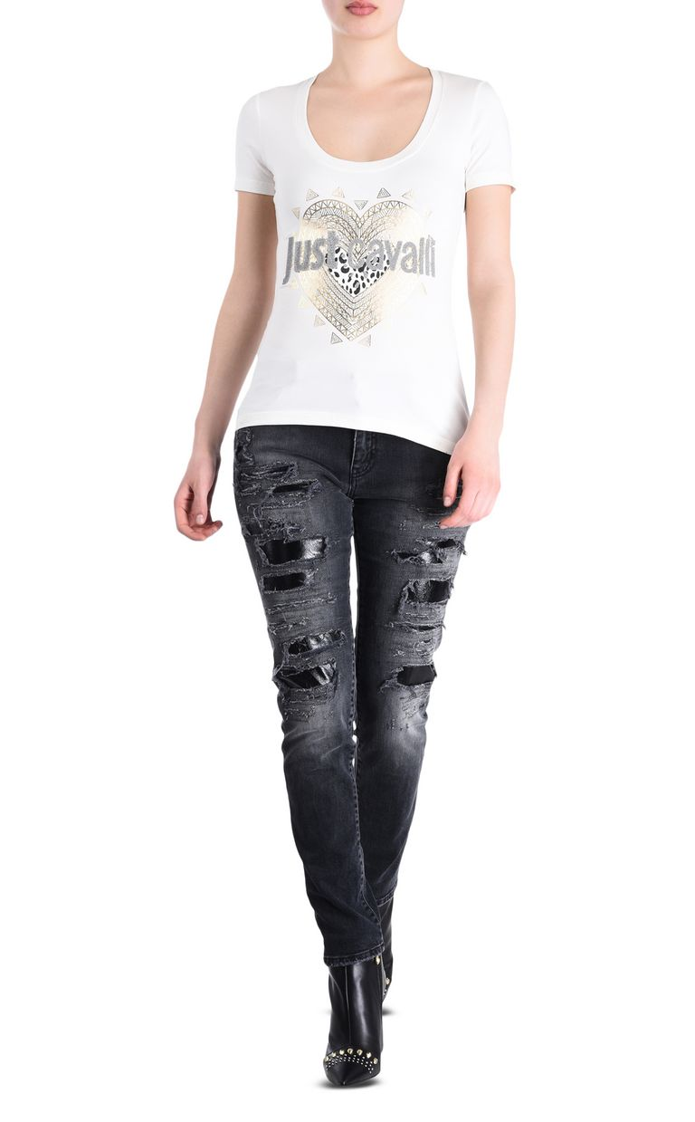 JUST CAVALLI Slim 5-pocket ripped jeans Jeans [*** pickupInStoreShipping_info ***] r