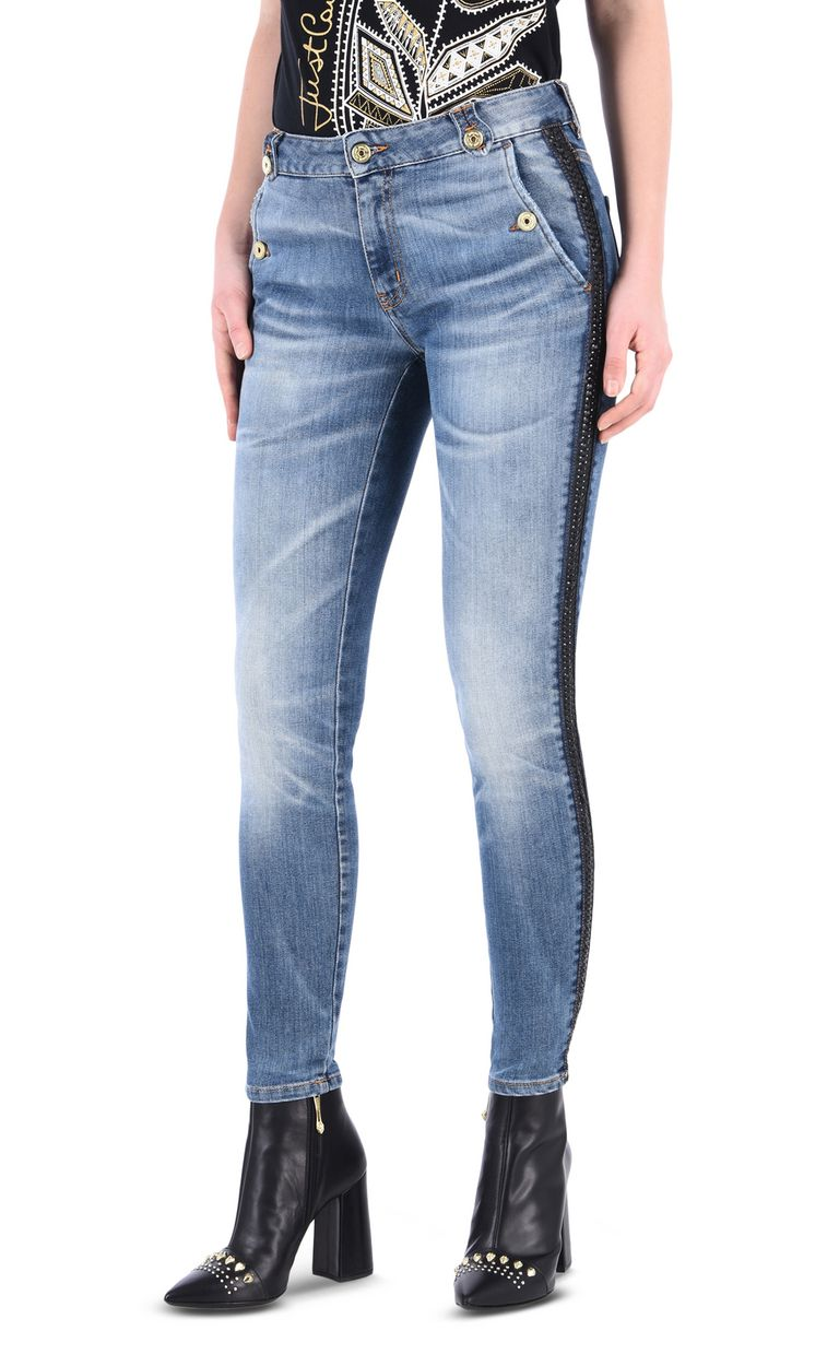JUST CAVALLI Mid-rise 5-pocket buttoned jeans Jeans [*** pickupInStoreShipping_info ***] f
