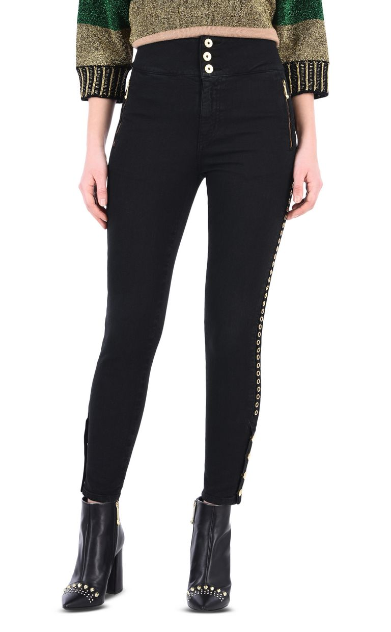 JUST CAVALLI 5-pocket jeans with stud detail Jeans [*** pickupInStoreShipping_info ***] f