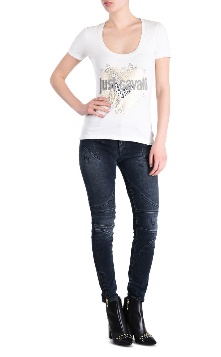 JUST CAVALLI Vintage-look 5-pocket jeans Jeans Woman r