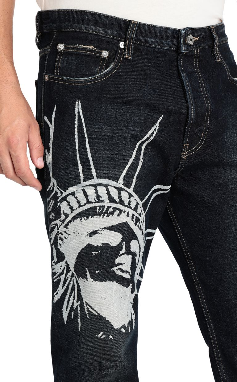 JUST CAVALLI Statue of Liberty relaxed jeans Jeans [*** pickupInStoreShippingNotGuaranteed_info ***] e