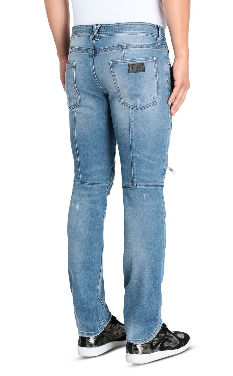 JUST CAVALLI Regular jeans with zip and studs Jeans Man d