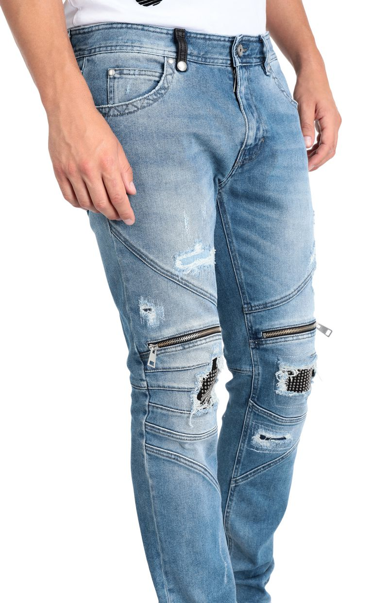 JUST CAVALLI Regular jeans with zip and studs Jeans Man e