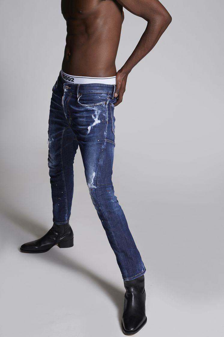 DSQUARED2 Top Spot Medium Tidy Biker Jeans 5 pockets Man f0744111d85d