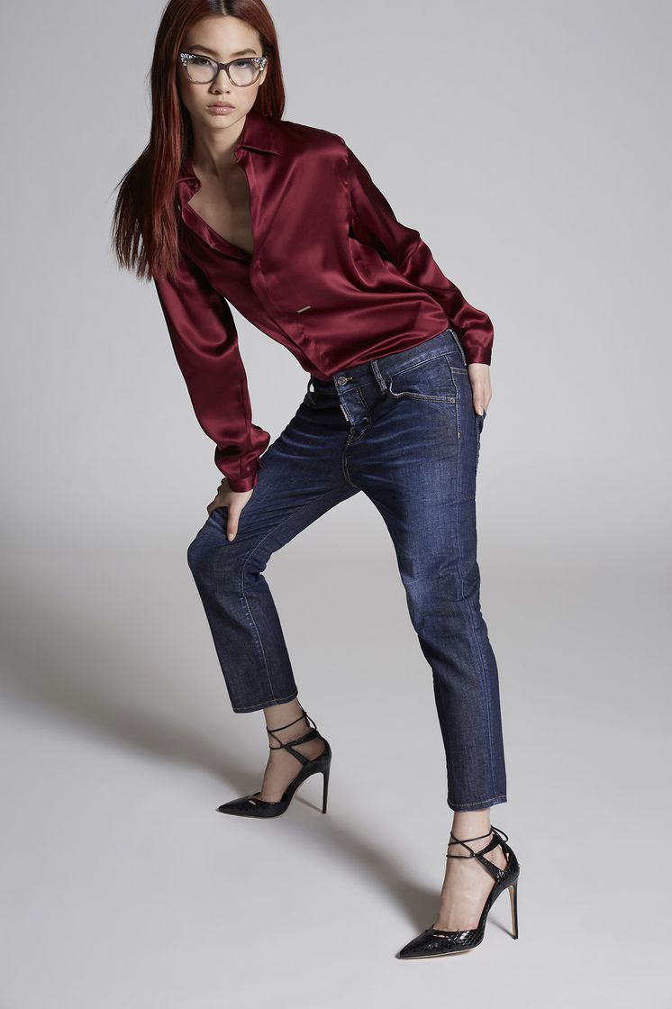 DSQUARED2 Done Deal Dark Cool Girl Cropped Jeans 五袋裤 女士