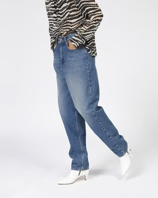 ISABEL MARANT ÉTOILE JEANS Woman CORSY oversize jeans r