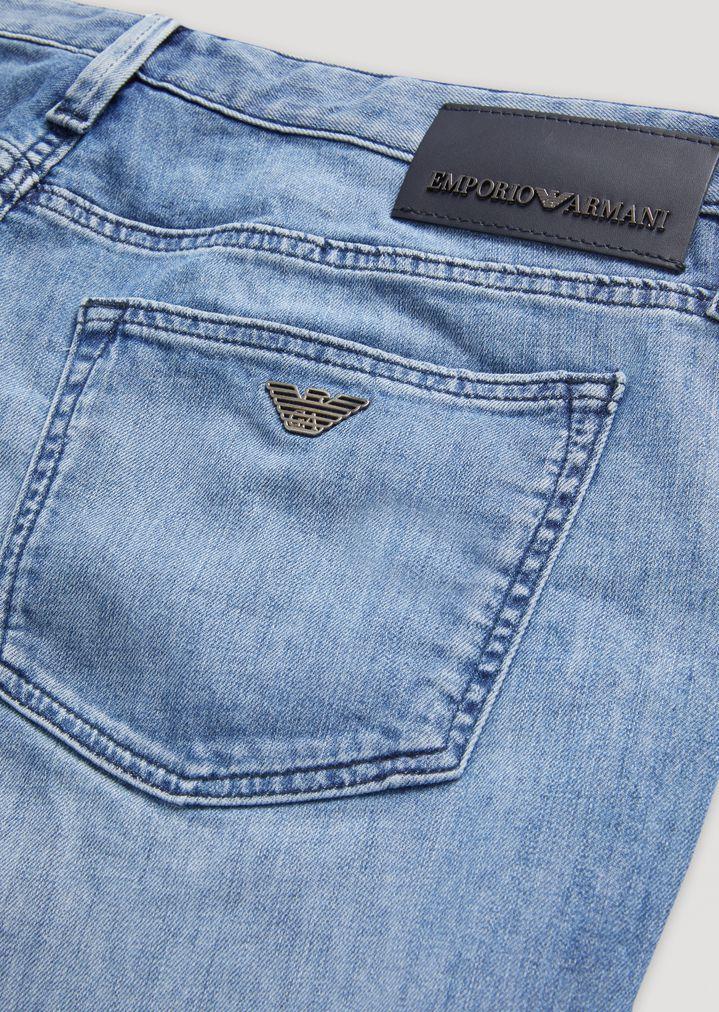 dff8df75a J75 slim fit stone-washed denim jeans | Man | Emporio Armani
