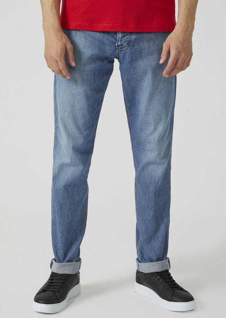 430499e6e5 J75 slim fit stone-washed denim jeans   Man   Emporio Armani