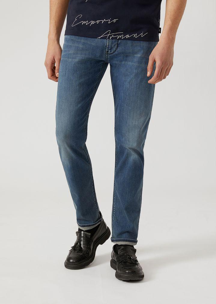 11aab1b12f J06 slim fit stone-washed denim jeans   Man   Emporio Armani