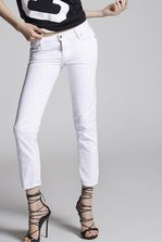 DSQUARED2 Garment Dyed Medium Waist Cropped Twiggy Jeans 5 pockets Woman
