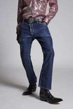 DSQUARED2 Dark Simple Perfection Cropped Flare Jeans 5 pockets Man