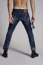 DSQUARED2 Medium Super Ripped Paint Spots Sexy Twist Jeans 5 pockets Man