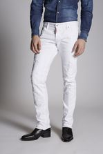 DSQUARED2 White Bull Slim Jeans 5 pockets Man