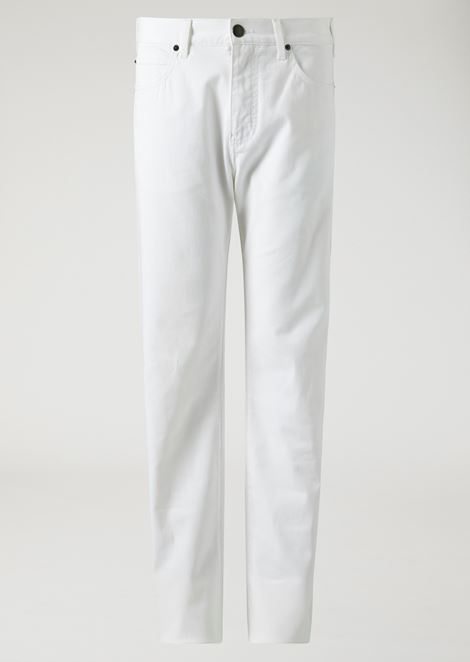 640ace7386 Regular fit trousers in stretch cotton gabardine | Man | Emporio Armani