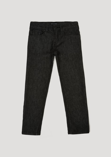Slim-fit stretch cotton denim jeans