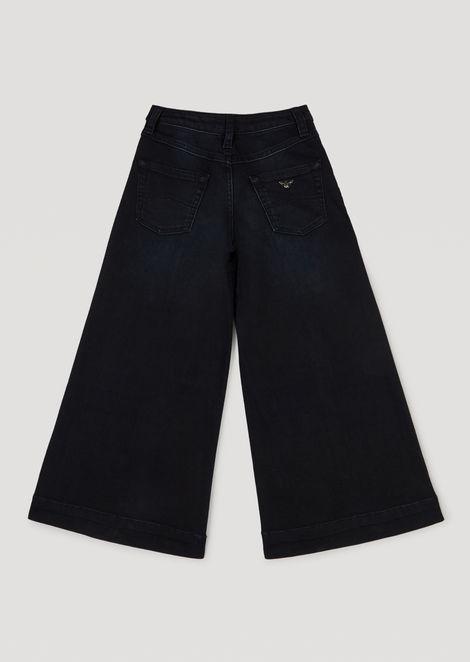 Flared stretch denim jeans