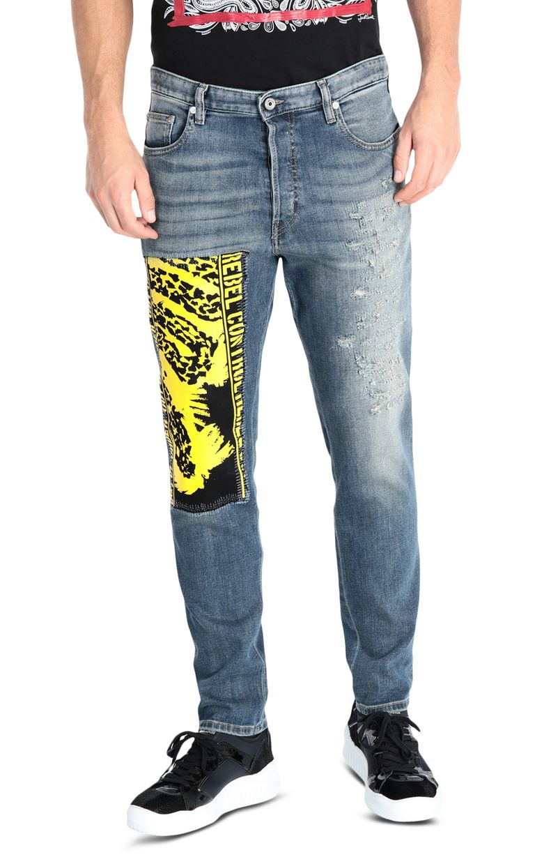 JUST CAVALLI Print-detail jeans, regular fit Jeans [*** pickupInStoreShippingNotGuaranteed_info ***] f