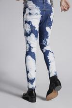DSQUARED2 White Cloudes Skater Jeans 5 pockets Man