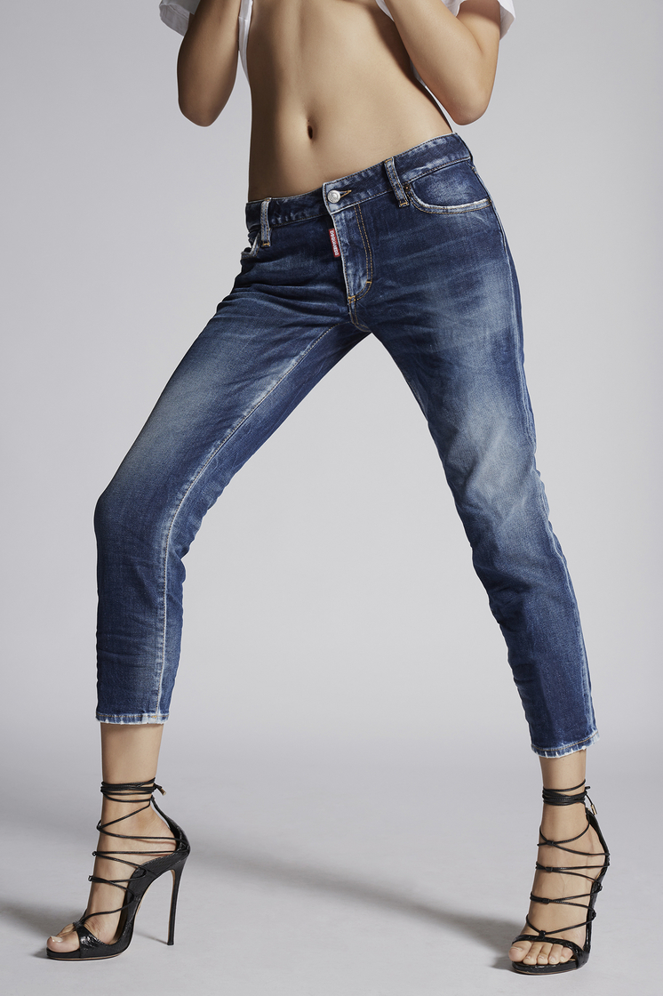 DSQUARED2 Medium Cropped Twiggy Jeans 5 pockets Woman