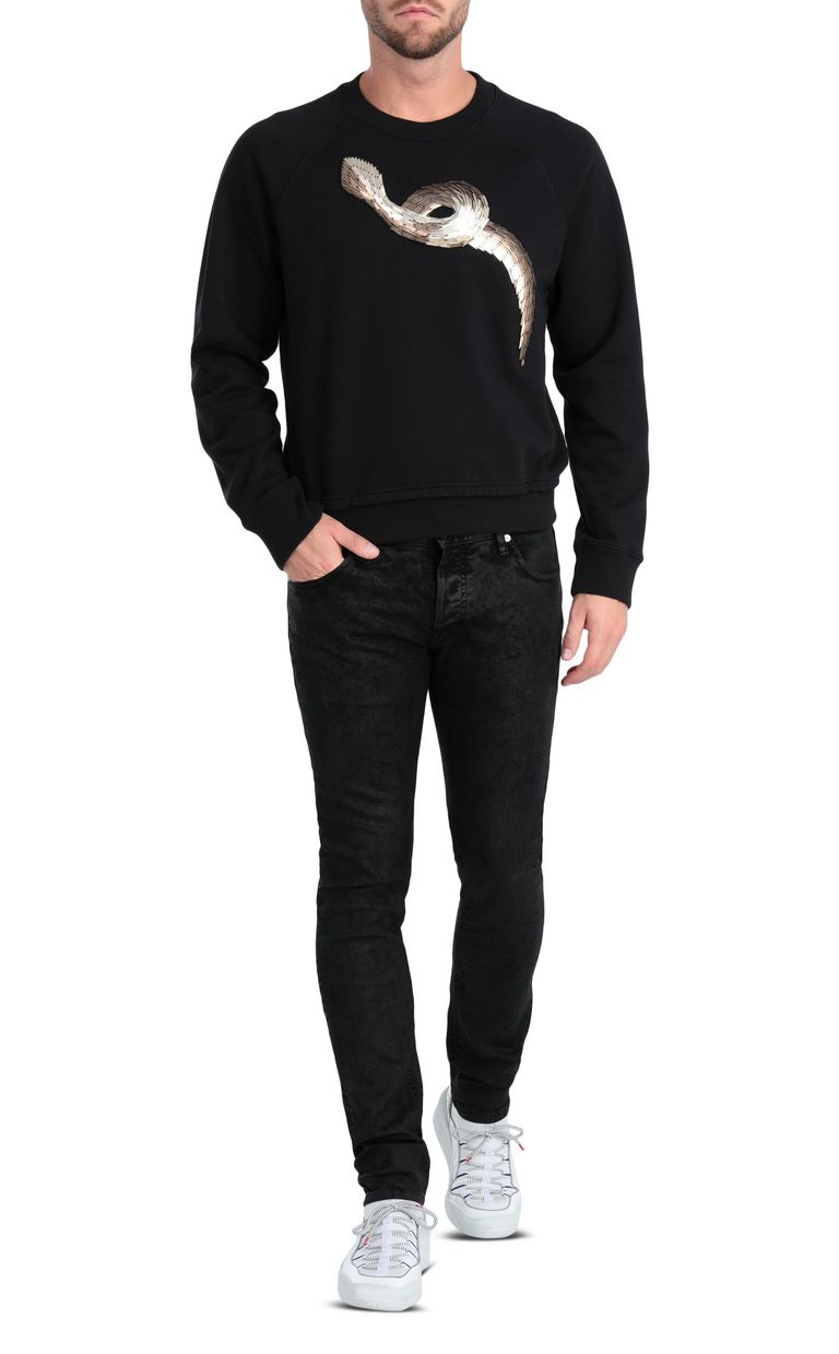 JUST CAVALLI Classic black jeans with a Just Fit Jeans Man d