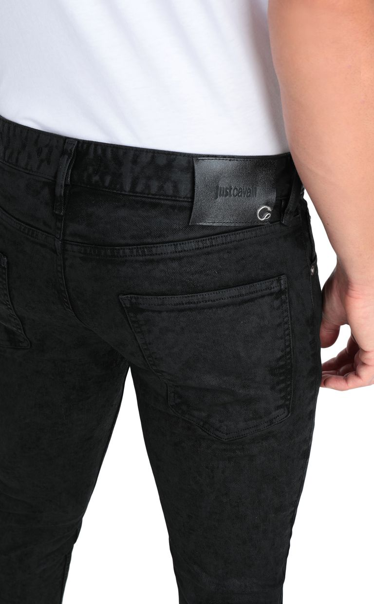 JUST CAVALLI Classic black jeans with a Just Fit Jeans Man e