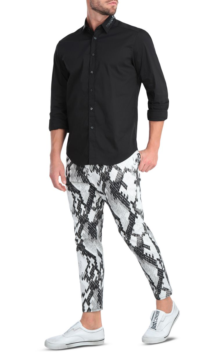 JUST CAVALLI Boy-fit jeans with python-print Jeans Man d