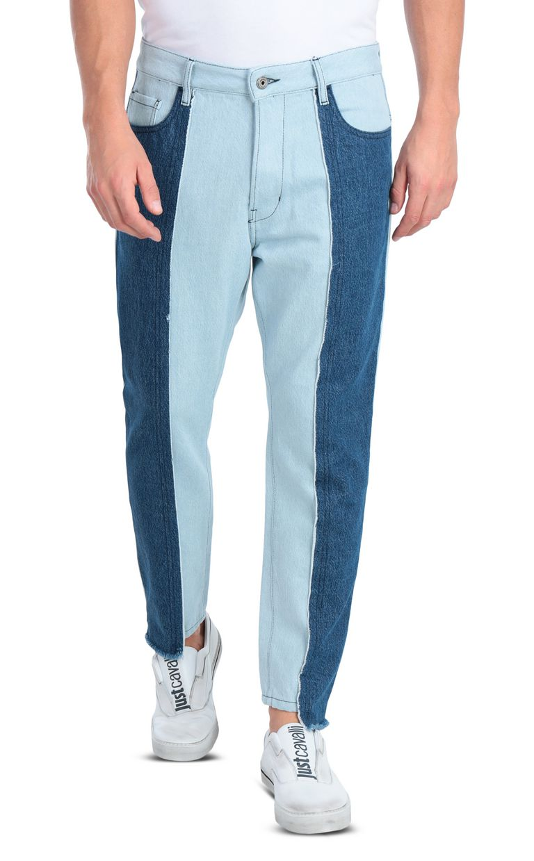 JUST CAVALLI Boy-fit jeans with patchwork detail Jeans Man f