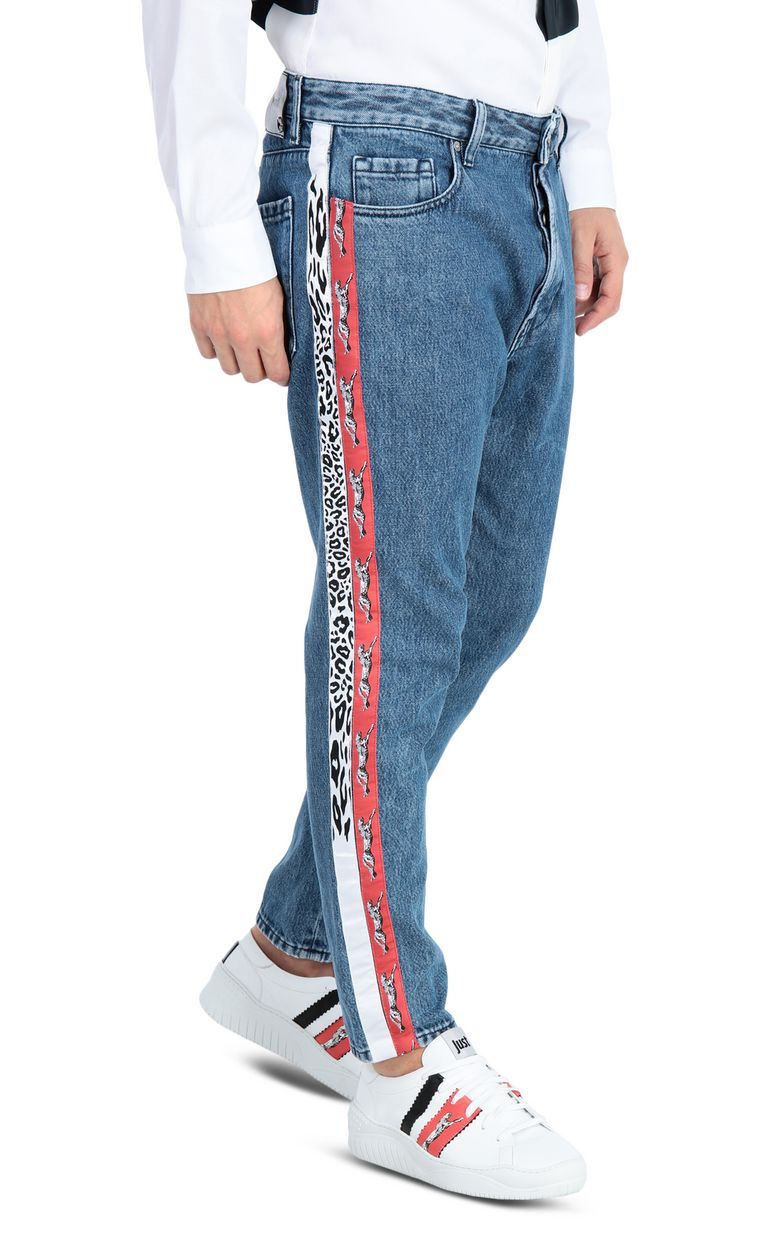 JUST CAVALLI Boy-fit jeans with a leopard band Jeans Man f