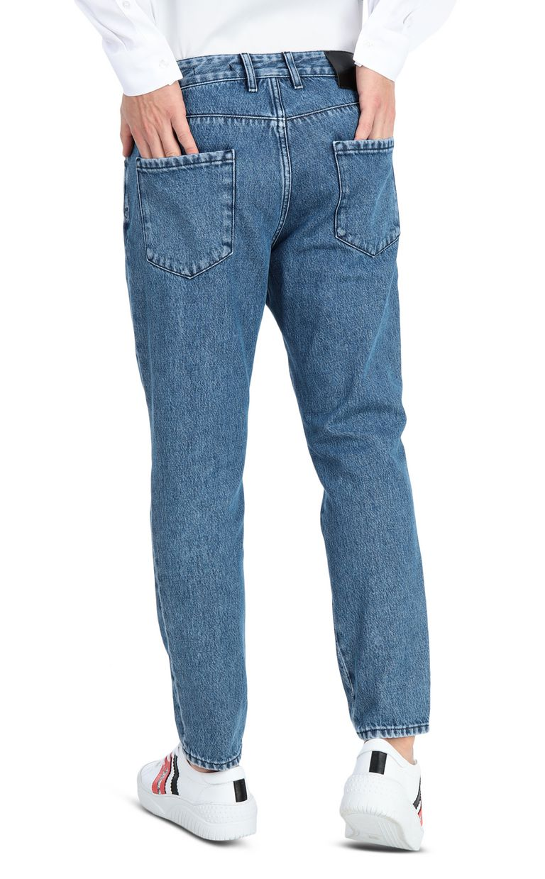 JUST CAVALLI Boy-fit jeans with a leopard band Jeans Man r