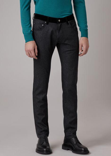 Slim fit denim jeans made from Australian merino wool