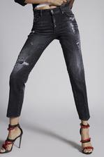 DSQUARED2 Night Stellata Boyfriend Jeans 5 pockets Woman