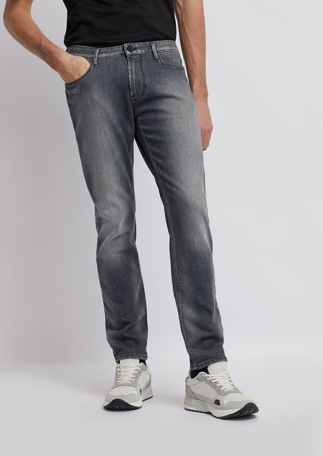 J06 slim fit 12 oz cotton twill denim jeans