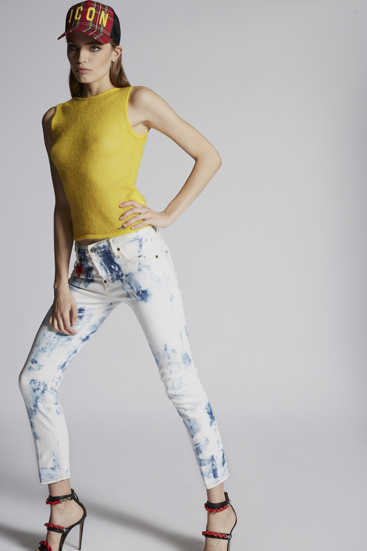DSQUARED2 Shreaded Bleach Cool Girl Jeans 5 pockets Woman