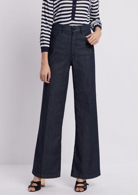 J14 palazzo jeans in comfort denim