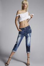 DSQUARED2 Acid Green Spots Dennis Jeans 5 pockets Woman