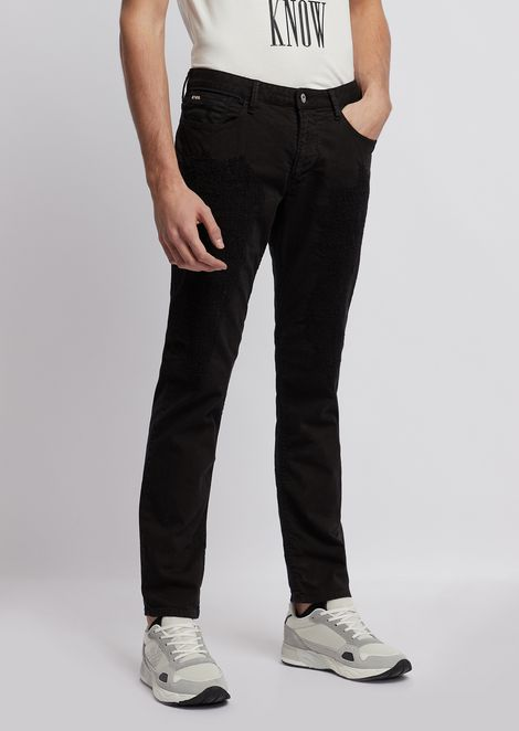 Slim-fit J06 patched bull cotton jeans