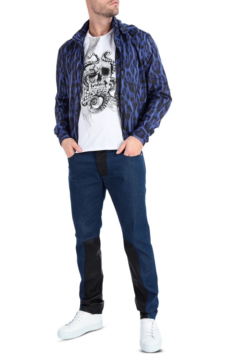 JUST CAVALLI Just-Fit Jeans with leather details Jeans Man d