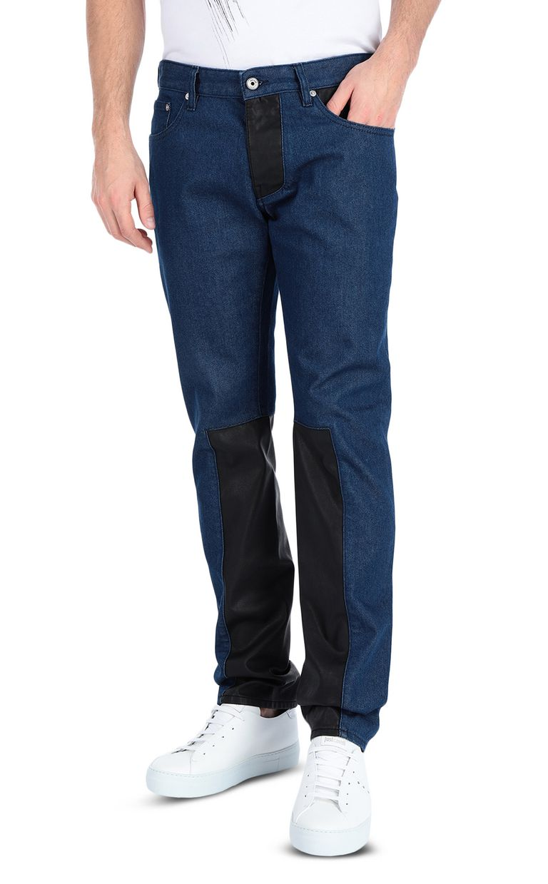 JUST CAVALLI Just-Fit Jeans with leather details Jeans Man f