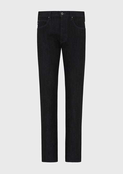 Regular-fit J21 jeans in stretch cotton denim