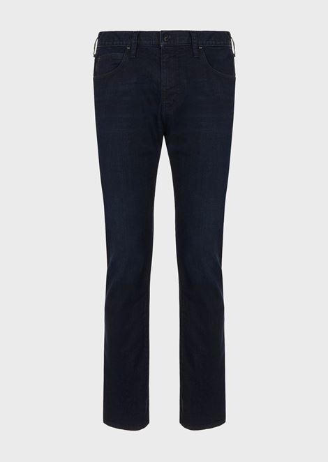 Regular-fit J45 jeans in stretch cotton denim